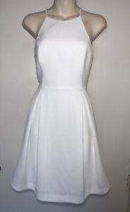 FOREVER NEW White Summer Dress Size 10 #22939