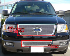 Fits 2003-2006 Ford Expedition Stainless Mesh Grille Combo