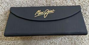 Maui Jim Tri Fold Magnetic Black Eye Glasses Case New  Free first class shipping
