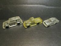 RARE VINTAGE VARNEY CLEAR PLASTIC FORD VEHICLES