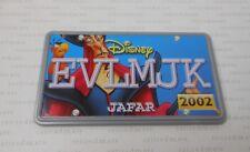2002 Hasbro Disney Wild Racers JAFAR & IAGO Aladdin Diecast Car's License Plate