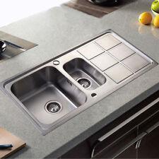 2 becken bad & küche spülen für mit abtropffläche | ebay - Spülen Küche