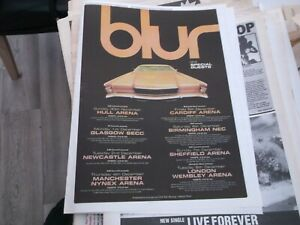 BLUR UK TOUR 1997 POSTER 1997 FRAMING