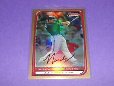 2008 Bowman Chrome JJ HARDY #150 Gold Refractor SP/50 Brewers BALTIMORE Orioles
