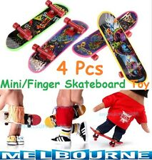 4 Pcs Mini Plastic Tech Deck Toy Skate Finger Board Skateboards Toys Gift Kids