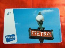 RARE TELECARTE - OUTREMER TELECOM - METRO - VILLE - 5€ - TTBE - 25000 ex