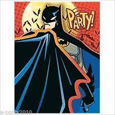 BATMAN The Batman INVITATIONS (8) ~ Birthday Party Supplies DC Comics Heroes