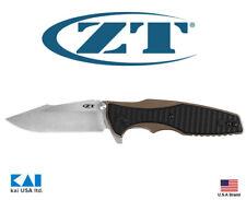 "Zero Tolerance ZT0393BRZ Knife 3.5"" S35VN Blade Titanium Bronze Anodized Handle"