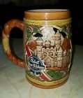 """Vintage King Gambrinus 1987 Pabst Blue Ribbon Holiday Stein 6"""" Tall"""