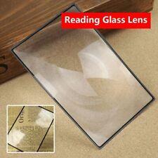 Magnifier Sheet Reading Glass Lens Book Magnification X3 180X120mm A5 Flat PVC