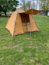 Vintage Coleman Canvas Camping Tent 8' X 8' Nice Color!!!