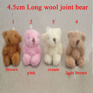 Mini 4.5 cm Fluffy Cute Bears Party Bags/Wedding Favour/Baby Shower/Dolls House