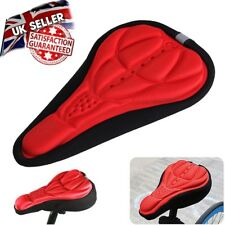 RED GEL Silicone Bike Bicycle Extra Comfort Saddle Seat Pad Cushion Cover
