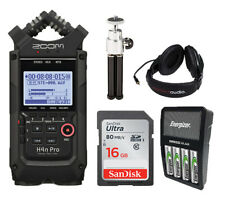 Zoom H4n Pro Black Recorder,16GB SD,Rechargeable Batteries,Headphones,Stand