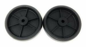 Set Of 2 Replacement BBQ Grill Wheels Pair Set Kit-Solid Plastic Wheel