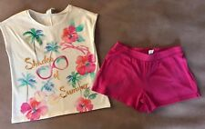 Gymboree Size 10 Shades of Summer Tee Pink Shorts M 10-12