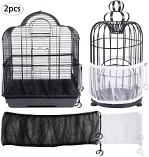 Bird Cage Seed Catcher Guard, Universal Parrot Birdcage Cover Soft Airy Mesh Net