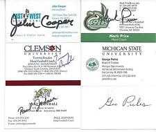 CLEMSON TIGERS TOMMY BOWDEN SIGNED BUSINESS CARD NATIONAL CHAMPIONS