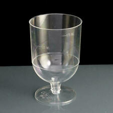 10 x Plastic Desposable Wine Glass Party Wedding Champagne Goblet Cocktail Cup