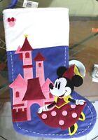 Disney Parks Minnie Mouse Princess Castle Christmas Holiday Stocking 2019 NEW =