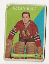 1958-59 Glenn Hall Hockey Card #13 Chicago Blackhawks