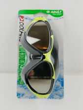 Dolfino Goggles Tidal Sport Adult 12+ Black Green Uv Protection Mirror Lenses