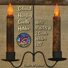 Primitive Country Farmhouse COLONIAL DOUBLE HANGING CANDLE HOLDER  CHOICE
