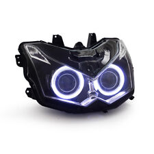 KT LED Angel Eye HID Headlight Assembly for Kawasaki Z1000 2010 2011 2012 2013
