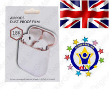 AirPods Dust Cover From UK 18K Gold Metal Earphone Ultra Thin Guard Colour Proof