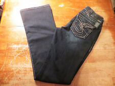 Silver Suki Surplus Mid Rise Boot Cut Dark Blue Wash () Size 27x34 Super