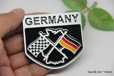 D399 Racing Flagge Deutsche Auto 3D Emblem Badge Aufkleber PKW KFZ Car Sticker