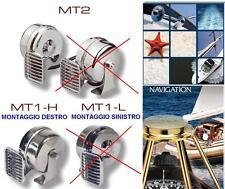 TROMBA MARINA INOX TONO BASSO ELETTROMAGNETICA 12V 5Ah 114db BARCA-CAMPER MT1-H