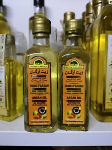 2X125ml Pure Moroccan extra virgin Cosmetic Organic Argan Oil.first  pressed.