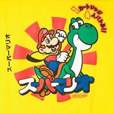 Mario Yoshi Japan Mens Large Bros Brothers Japanese Yellow Nintendo Game T Shirt