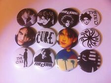 12 The Cure badges 25mm UK Indy Love Cats Robert Smith Boys Don't Cry Wish Burn