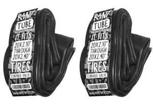 """2 x RANT 20"""" BMX BICYCLE TUBES 20 x 1.95 - 2.4 FITS ALL 20"""" TIRES FAST SHIPPING!"""