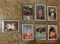(7) Jim Abbott 1988 1989 Topps Upper Fleer Donruss Bowman Rookie card lot RC