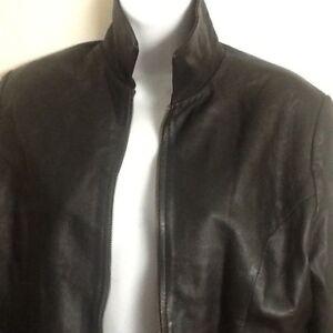 Versace  Leather Women's Jacket Super Soft  Size L Authentic