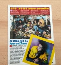 BAD NEWS (Rik Mayal) 'tourbus' ARTICLE / clipping from Joepie magazine (Belgium)