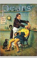 "TARGA VINTAGE ""1789 PEARS' SOAP BARBER SHOP"" Pubblicità,Advertising,Poster Plate"