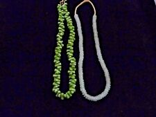 LOT #9: 2 STRANDS HANDMADE AFRICAN RECYCLED & POWDER GLASS TRADE BEADS
