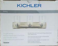 Kichler Amity 3-Light Nickel Rustic Vanity Light