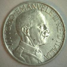 1923 Nickel Italy 2 Lire Italian Coin XF Extra Fine Damaged