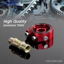 Racing Sport JDM Aluminum Oil Gauge Filter Sandwich Adapter Plate Kit Red