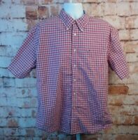 Tommy Hilfiger Red White & Blue Plaid Cutton Front Shirt  Size  XL