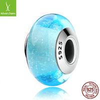 Romantic Style 925 sterling Elsa's Signature Blue Colour Charms Lampwork beads