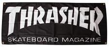 THRASHER MAGAZINE - Logo Tuch Skateboard Plakat / Rampe Flagge