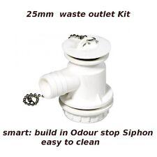 RV 25mm plug waste outlet drain siphon kit e.g. Dometic Cramer sink caravan boat