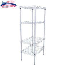 4-Tier Wire Shelving Unit Adjustable Steel Rack Kitchen Garage Storage Organizer