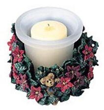 Boyds Bear Paxton's Christmas Blossoms Holiday Flora Votive #27726 NIB
